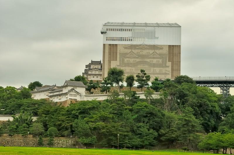 Himeji Castle under restoration