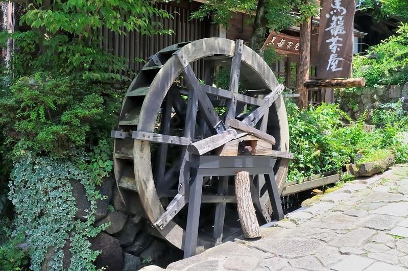 Waterwheel on the Nakasendo - Edo Period post road - Magome, Japan