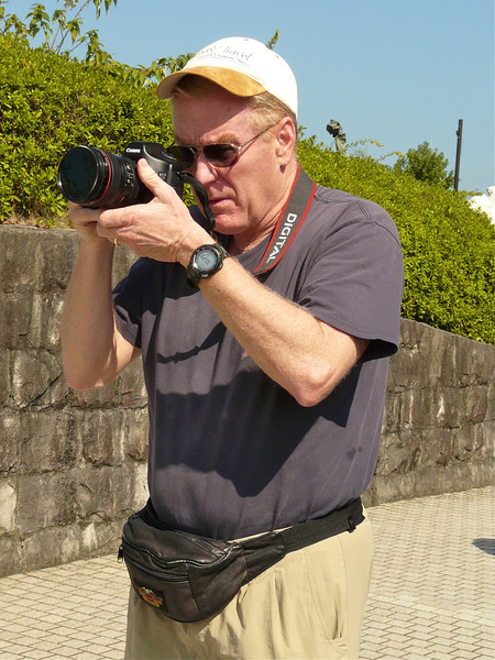 Photographing at the Nagasaki Peace Park