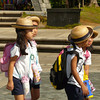 Japanese school children visit Nagasaki Peace Park