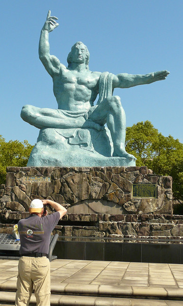 Photographing the Peace Statue