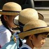 Closeup of children visiting Nagasaki Peace Park