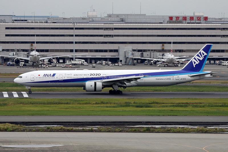"""JA757A Boeing 777-381 c/n 27040 Tokyo-Haneda/RJTT/HND 20-10-17 """"Tokyo 2020"""""""