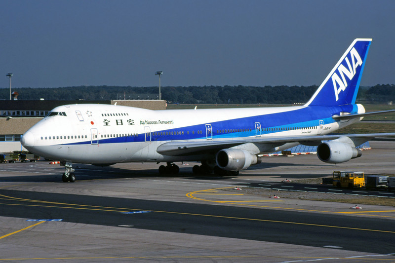 JA8174 Boeing 747-281B c/n 23501 Frankfurt/EDDF/FRA 04-09-99 (35mm slide)