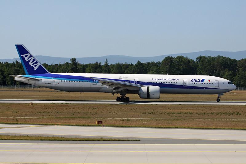 "JA734A Boeing 777-381ER c/n 32649 Frankfurt/EDDF/FRA 04-06-15 ""We support UNESCO"""