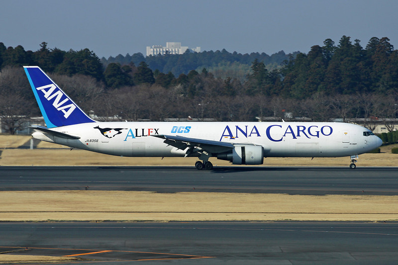 JA8356 Boeing 767-381BCF c/n 25136 Tokyo-Narita/RJAA/NRT 17-03-13