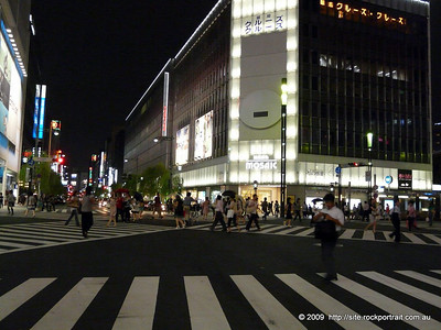 Who says there is no space in Tokyo? Pedestrians get plenty in this shopping paradise.