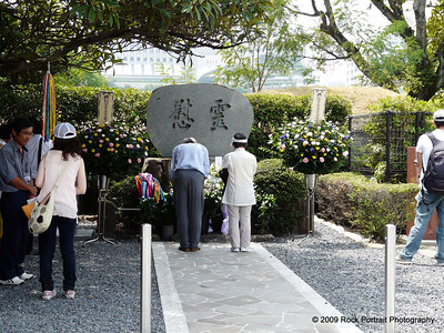 Paying tribute to the victims of the A-Bomb