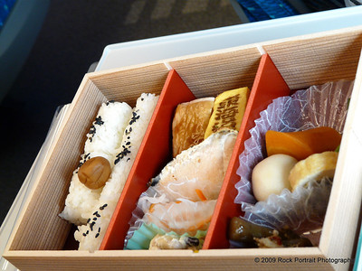 Bento box for the train ride. Don't ask me what anything is!