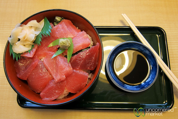 Tuna Sashimi and Rice (Don) - Kanazawa, Japan, Japan