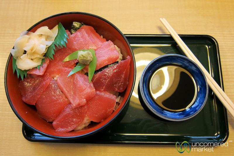 Tuna Sashimi and Rice (Don) - Kanazawa, Japan, Japan