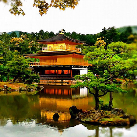 Golden Pavilion springtime - Kyoto, #Japan #dna2japan #gadv