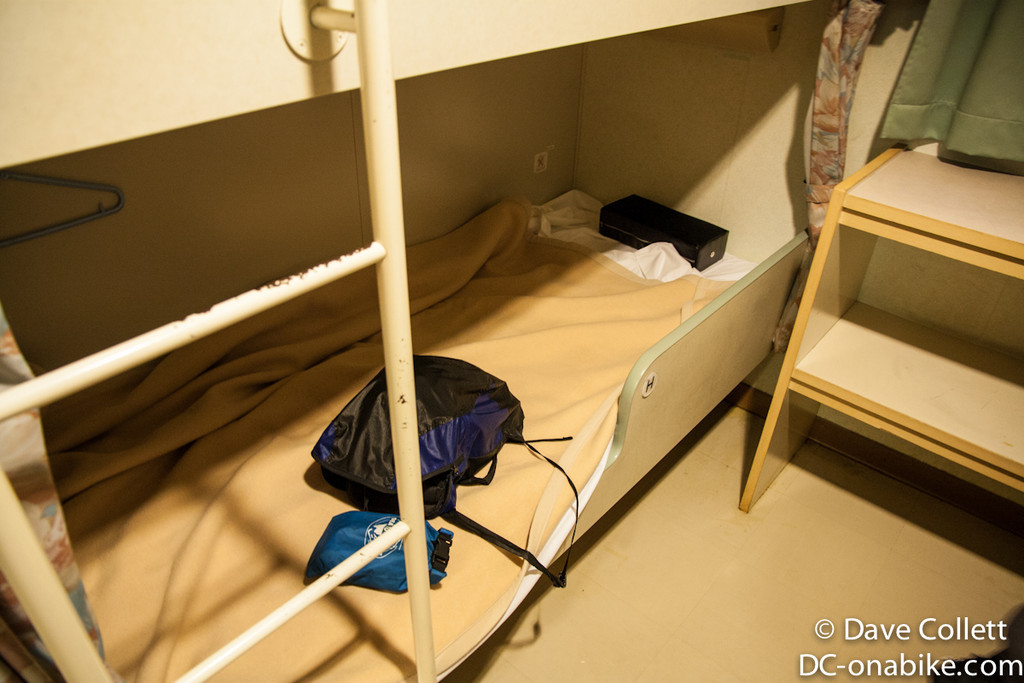 My bed on the ferry