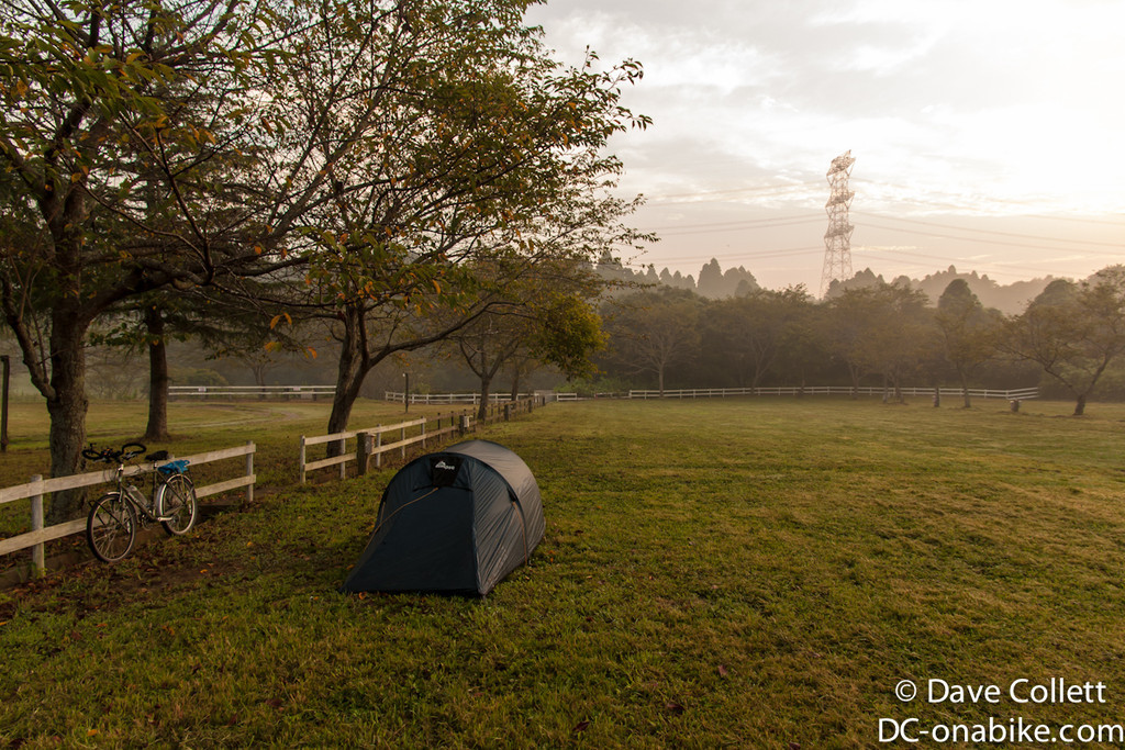 Campground to myself, no-one up at 5.30am!
