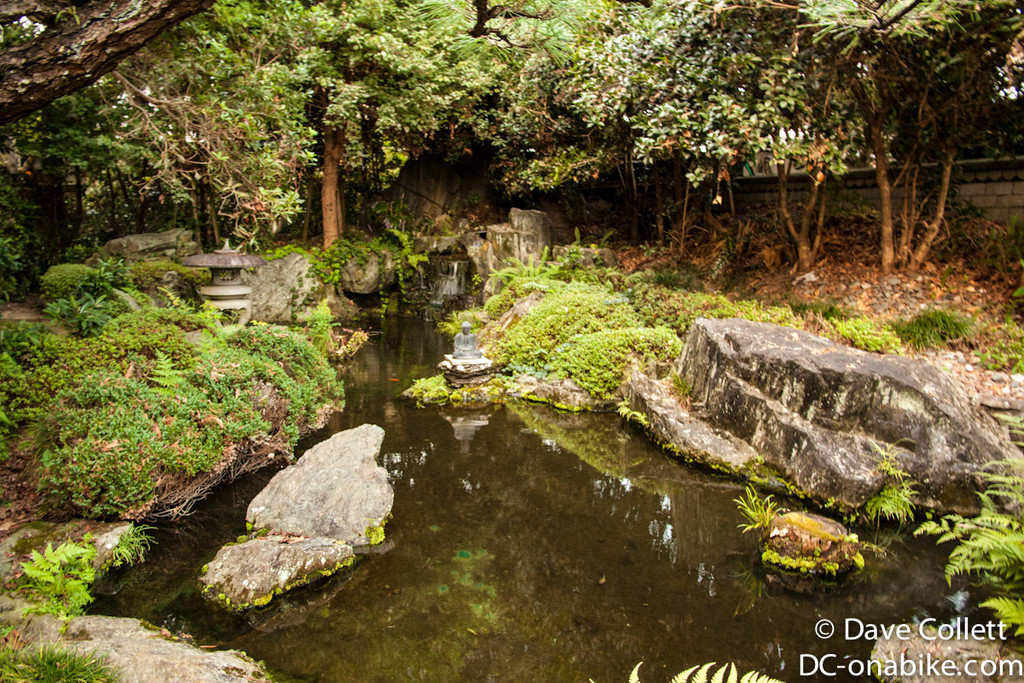 Little pond at the temple