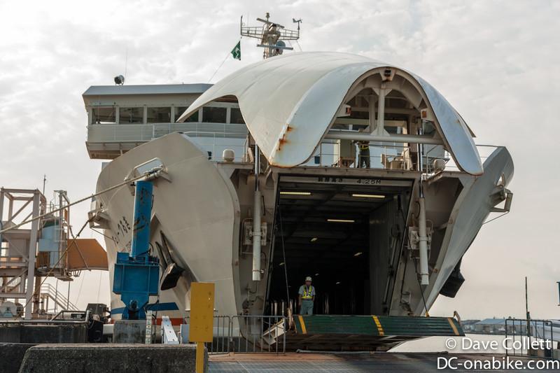 My ferry back to Honshu