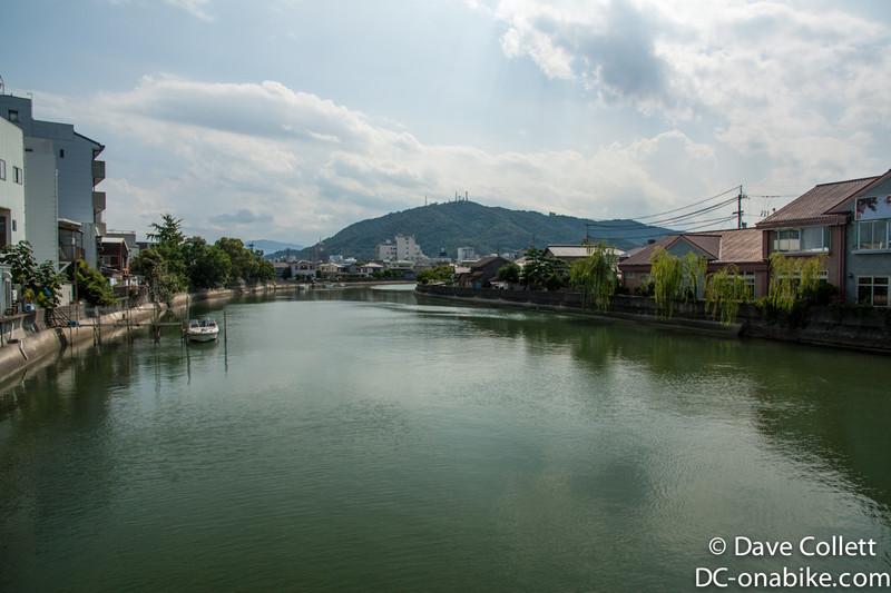 Crossing a river near Tokushima