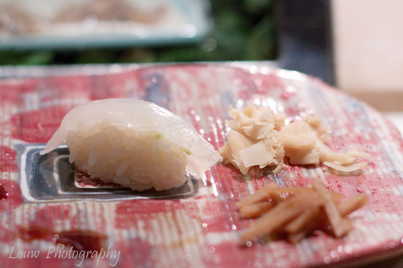 Madai-tai at Daisan Harumi Sushi, Tokyo, Japan