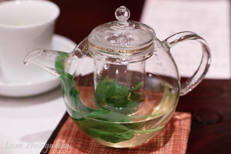 Herb tea with shiso leaf, Esaki, Tokyo, Japan