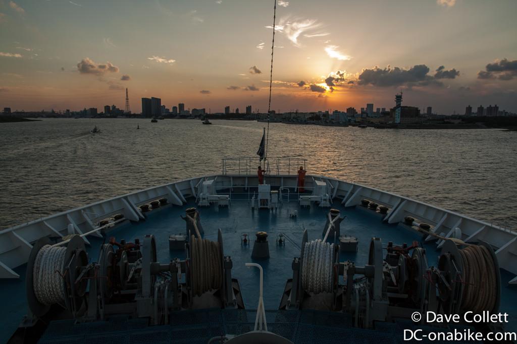 Sunset as we turn off the Yangtze