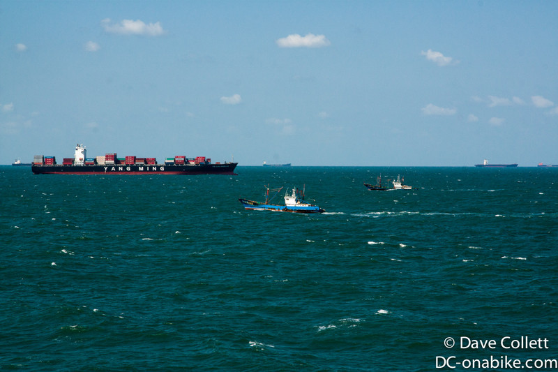 Lots of ships about 50km offshore!