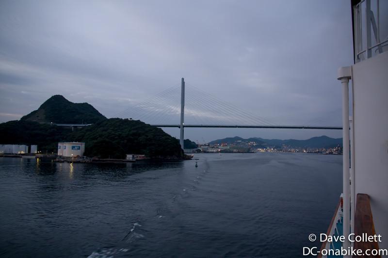 Looking back at the bridge