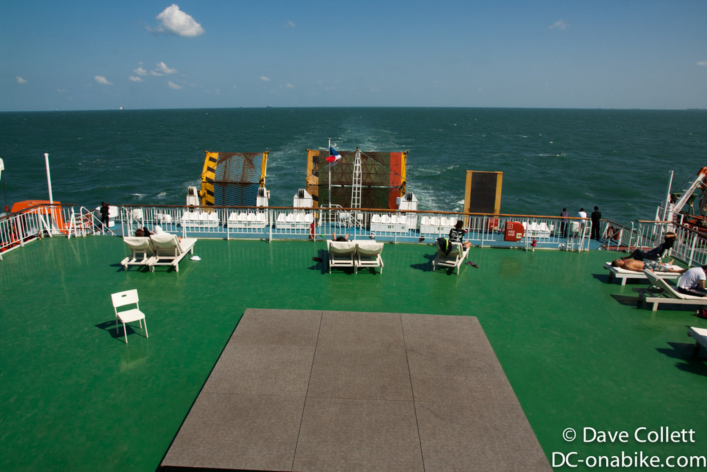 Open area at the stern of the ship