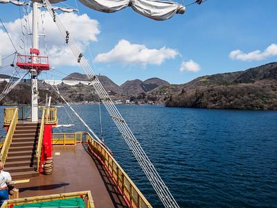 Lake Ashi from sightseeing cruise
