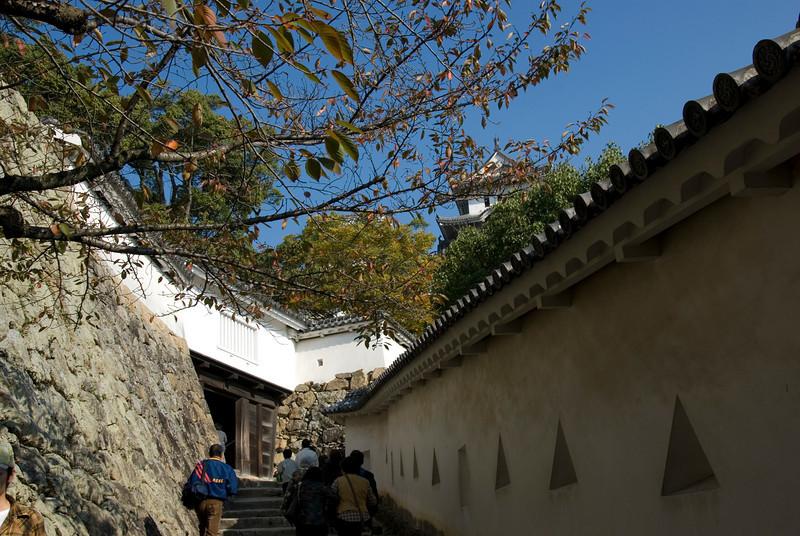 Fortification Windows inside the Himeji Castle in Japan