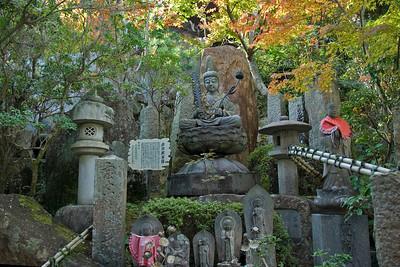 Buddha statue at the Shrine of Daisho-in Temple in Miyajima, Japan