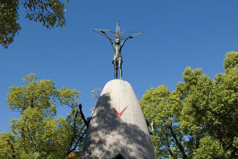 Childrens Memorial at Peace Park in Hiroshima, Japan