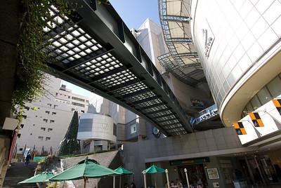 Shot of the mall facade in Hiroshima, Japan