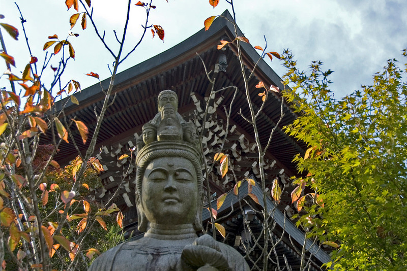 Buddha statue during Autum in Daisho-in Temple - Miyajima, Japan
