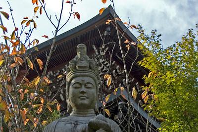 Buddha statue during Autum in Daisho-in Temple - Miyajima, Japan