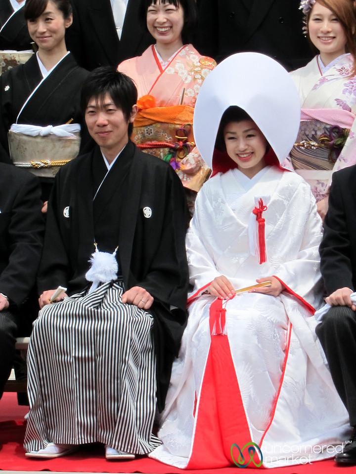 Japanese Bride and Groom - Itsukushima Shinto Shrine, Miyajima