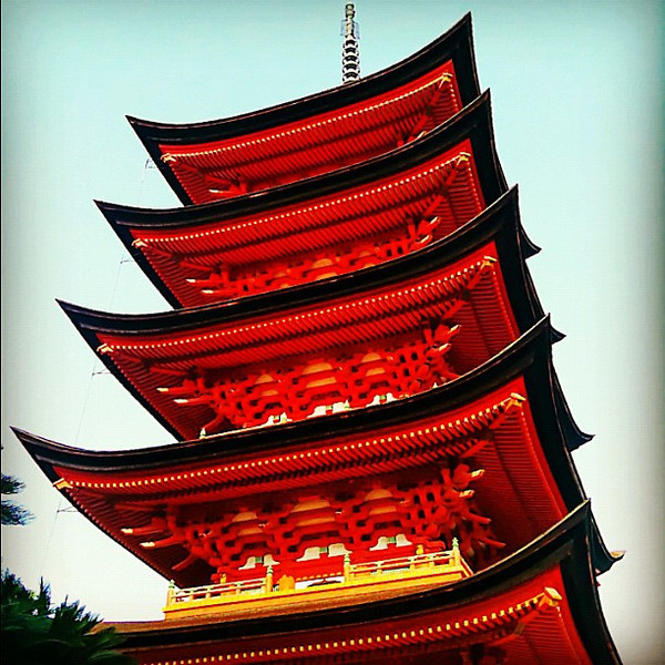 Five-storied pagoda - Miyajima, Japan #dna2japan #gadv