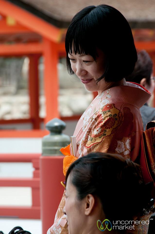 Doting Friend at Japanese Wedding - Miyajima, Japan