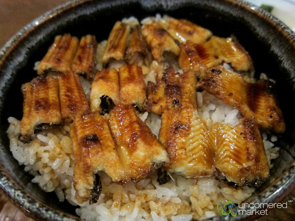 Anago Meshi (Conger Eel) on Rice - Miyajimaguchi, Japan