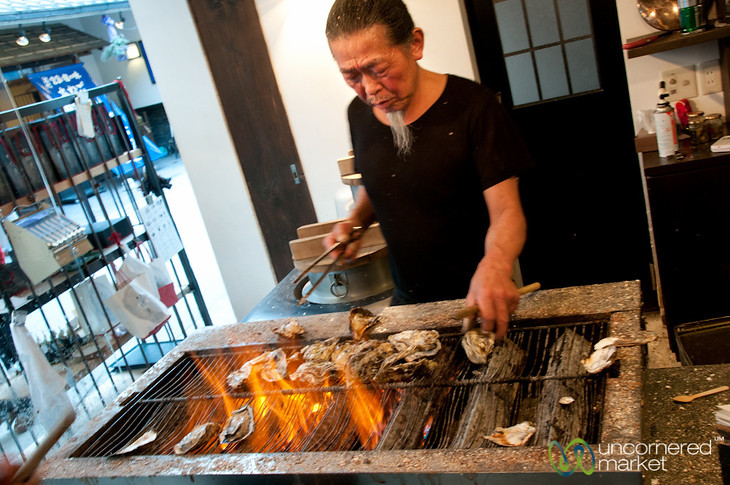 Grilled Oysters - Miyajima, Japan