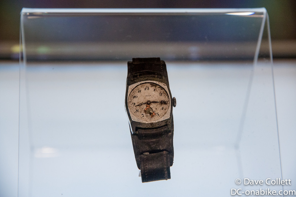 Wristwatch that stopped when the explosion happened..