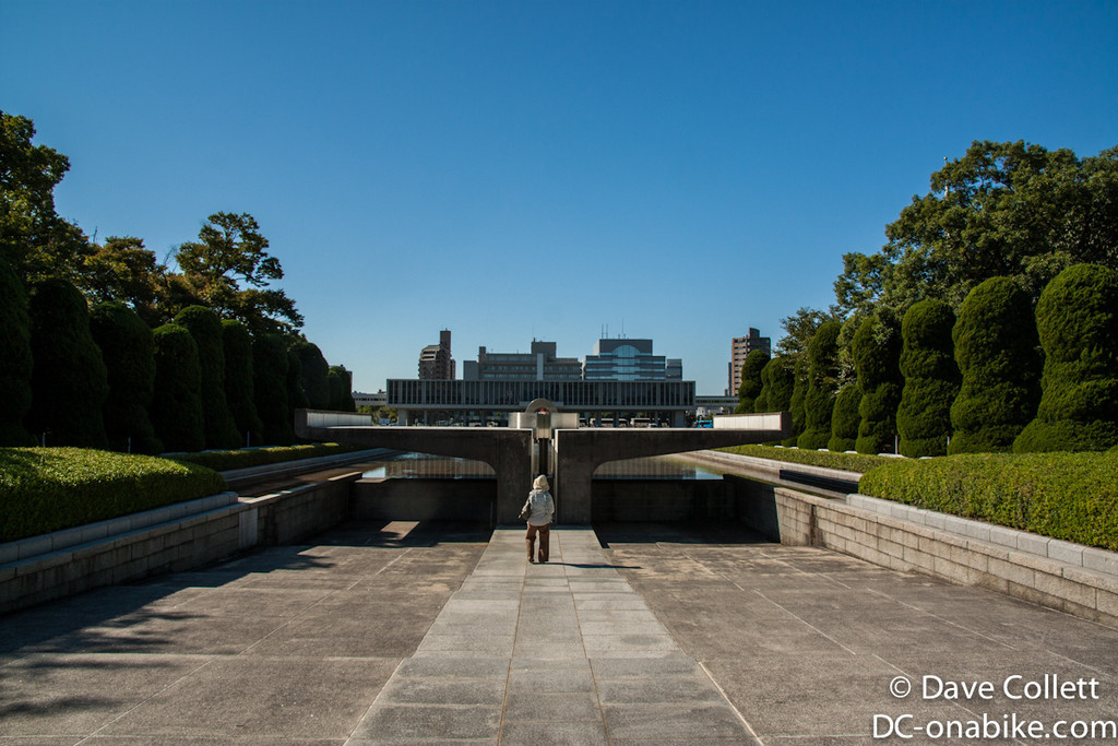 Looking towards the Peace Flame and the museum building