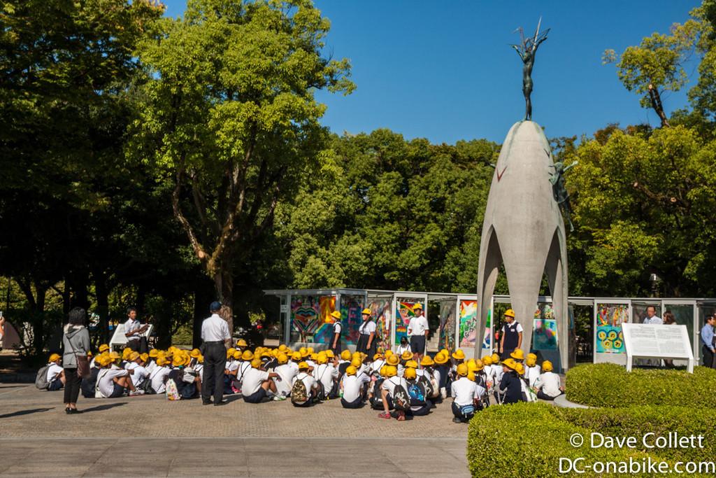 School children at the Children's Peace Monument