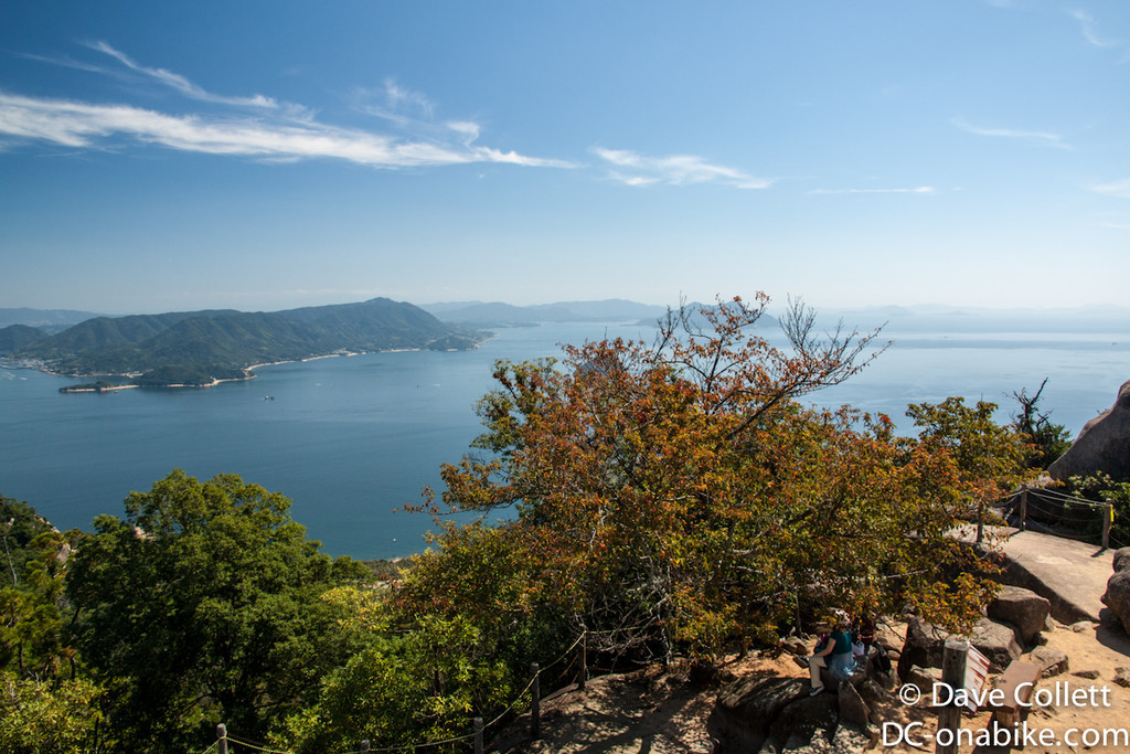 View down to the Seto Inland Sea