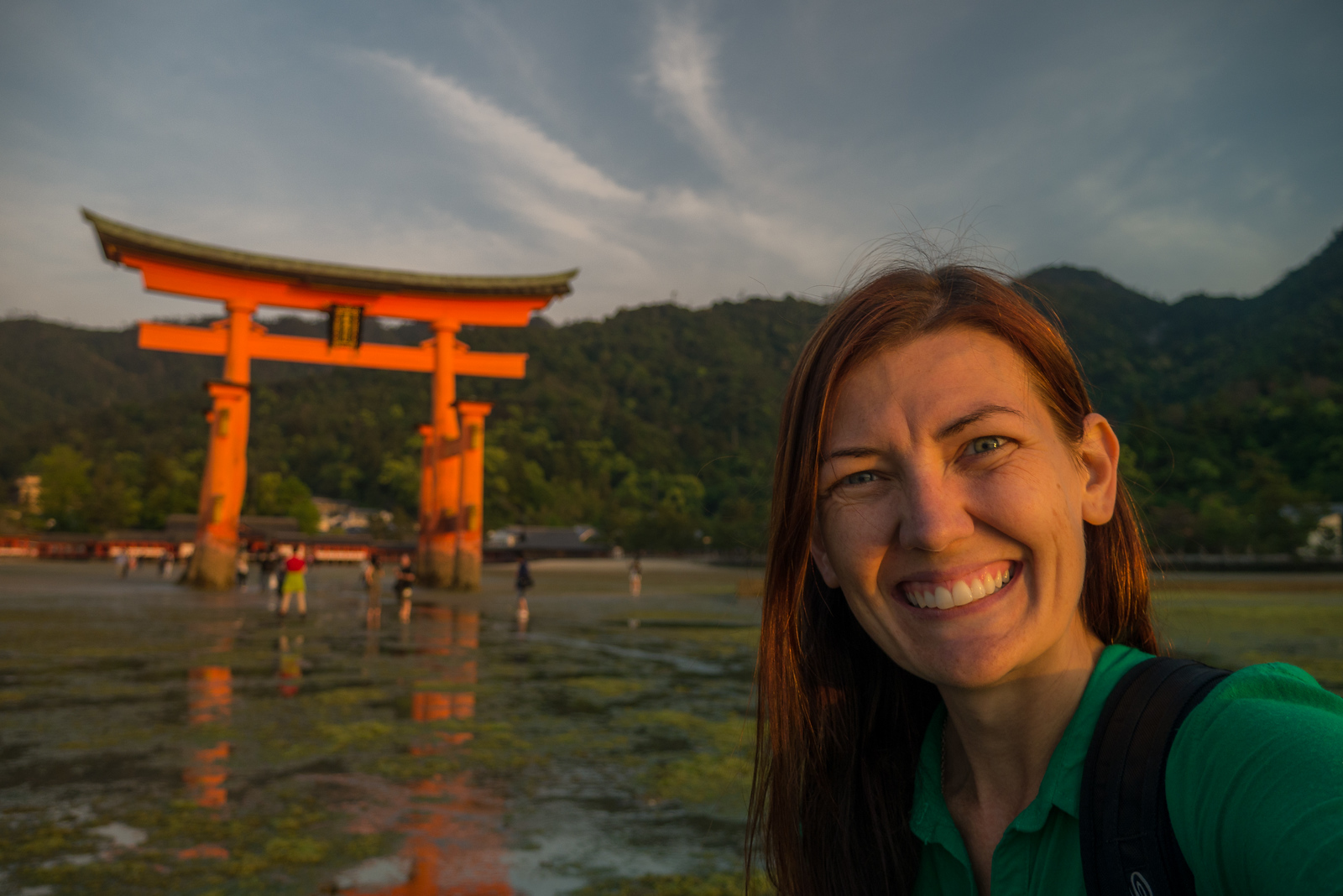 Selfie with the floating torii gate!