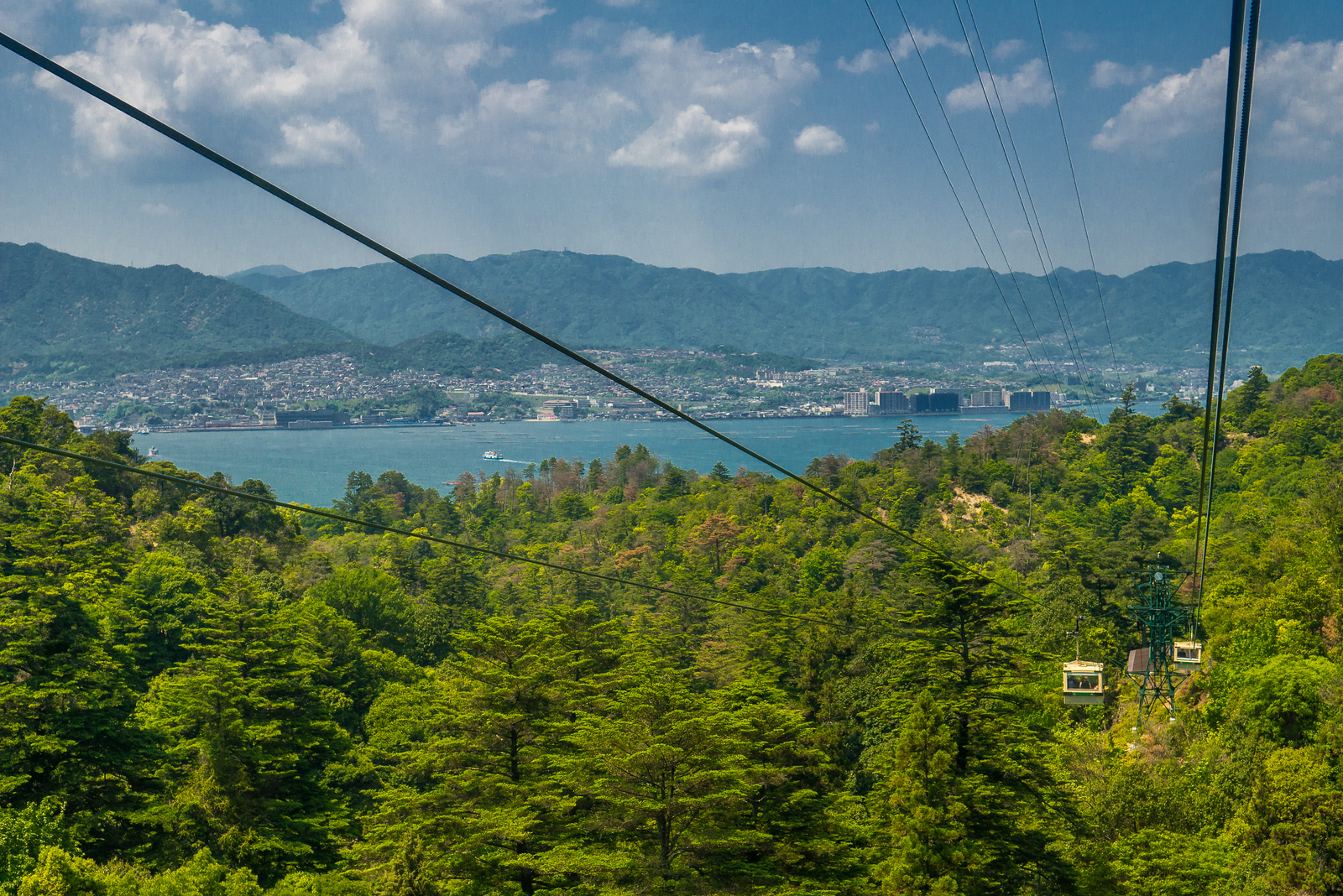 cable car on miyajima island
