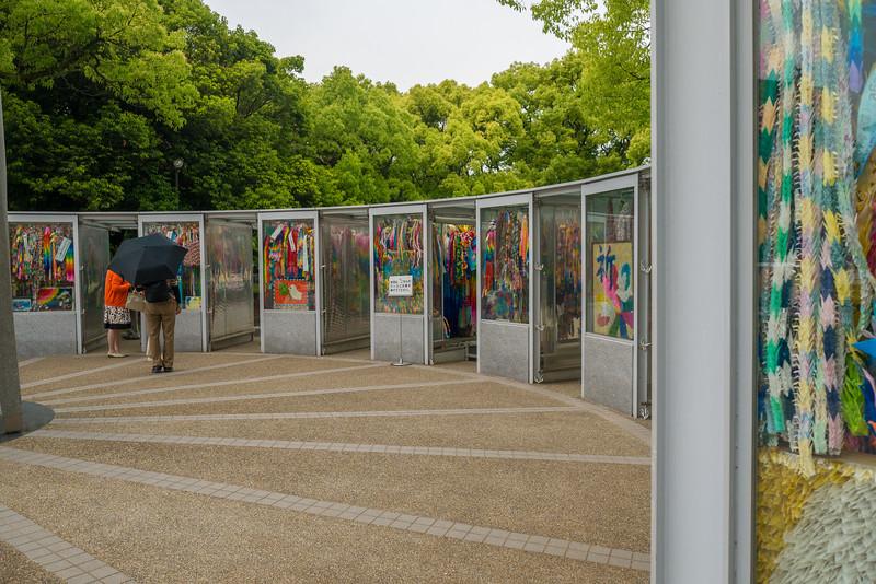 Paper Cranes at the Hiroshima Peace Memorial