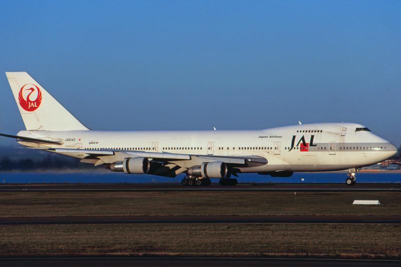 JA8140 Boeing 747-246B c/n 22064 Sydney-Kingsford Smith/YSSY/SYD 02-05-99 (35mm slide)