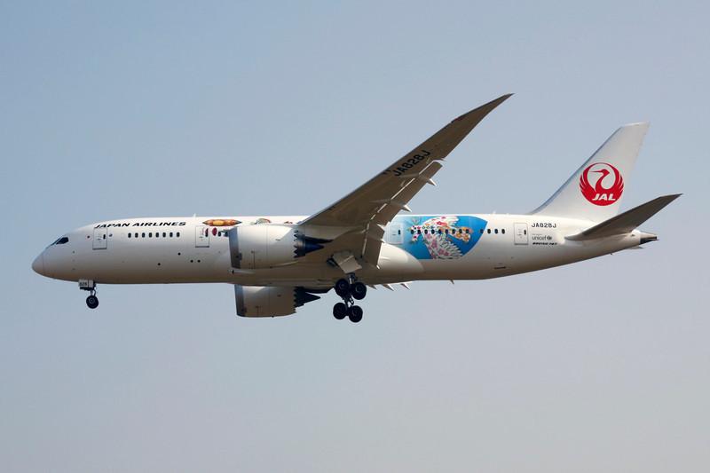 """JA828J Boeing 787-8 c/n 34838 Beijing-Capital/ZBAA/PEK 08-11-12 """"Studio Ghibli"""""""