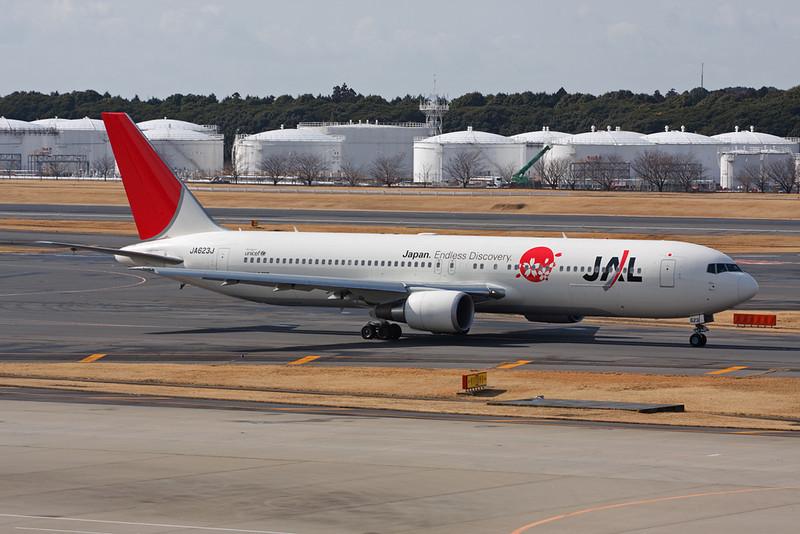 "JA623J Boeing 767-346ER c/n 36131 Tokyo-Narita/RJAA/NRT 25-02-11 ""Japan.Endless Discovery"""