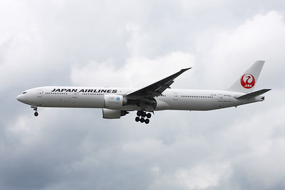 "JA743J Boeing 777-346ER c/n 36130 Heathrow/EGLL/LHR 30-05-17 ""GE - Worldwide Aircraft Engine Partner"""